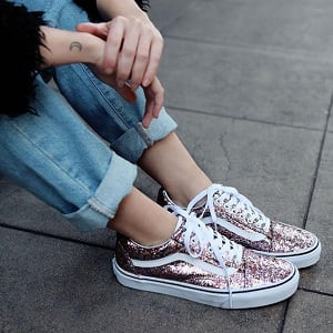 vansのglitter old school